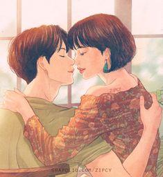 Cute Couple Drawings, Cute Couple Art, Anime Couples Drawings, Anime Love Couple, Couple Cartoon, Love Drawings, Cute Anime Couples, Couple Illustration, Illustration Art