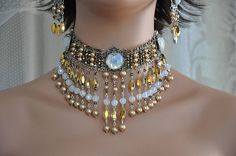 Bridal Choker NecklaceVictorian Bridal by cynthiacouture on Etsy, $650.00