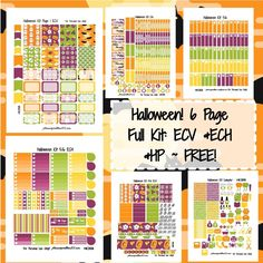 FREE Halloween KIT! | Free Printable Planner Stickers
