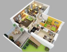 house floor plans 3d. modern small house plans under 1000 sq ft three bedroom floor 3d