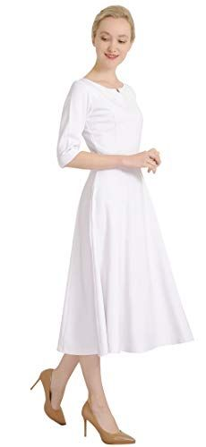 6fb4935755c62 Marycrafts-Womens-Fit-Flare-Tea-Midi-Dress-for-