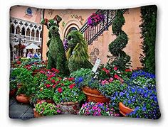 Custom  Nature Flowers LADY AND THE TRAMP disney flowers garden h JPG  Pillow Covers Bedding Accessories Size 20X26 suitable for XLong Twinbed -- See this great product.