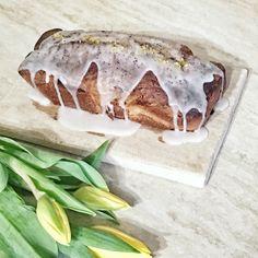 lemon-poppy cake, tulips