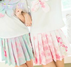 Cute skirts cherry blossom asian dresses pink fashion shorts · Cute Kawaii · Online Store Powered by Storenvy