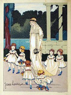 Jeanne Lanvin - Illustration - Robe de Mariée et Demoiselles d'Honneur - 1912