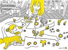 #こどもとうちで過ごそう 03 子どもを寝かせて輪郭をペンでなぞって、模造紙の上に子どもを描いてみる。 Snoopy, Animation, Illustration, Fictional Characters, Illustrations, Animation Movies, Fantasy Characters, Motion Design