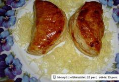 Főzött sajtkrémes leveles táska