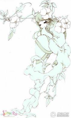 Xia Da Artwork Chinese Mythology, Bleach Manga, Moon Goddess, Watercolour Tutorials, Ancient China, Love Drawings, Chinese Art, Manga Art, Beautiful Pictures