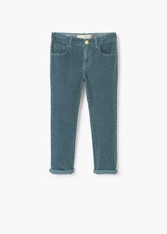 Corduroy slim-fit trousers | MANGO KIDS