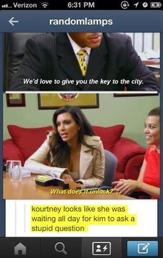 Kourtney was waiting all day for Kim to ask the stupid question. Kim is so dumb. Kardashians are so overrated!