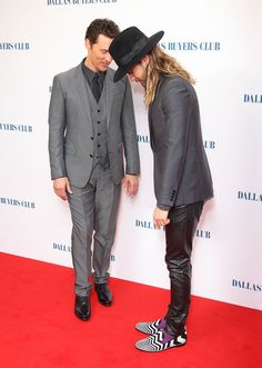 Matthew McConaughey was superjealous of Jared Leto's loafers on the red carpet.