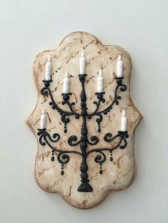 Candelabra Cookie Candelabra Cookie Source by itsyummi Thanksgiving Cookies, Fall Cookies, Iced Cookies, Cute Cookies, Royal Icing Cookies, Holiday Cookies, Cupcake Cookies, Cupcakes, Birthday Cookies