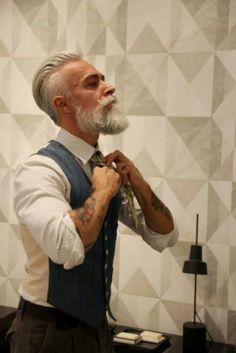 40 Grey Beard Styles to Look Devastatingly Handsome0171                                                                                                                                                                                 More