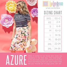 Lularoe Erin Hadaller VIP Boutique has members. Welcome to my special LuLaRoe shopping group! Boutique is open every Sunday. Lularoe Size Chart, Lularoe Sizing, Azure Lularoe, Azure Skirt, Thats The Way, Lula Roe Outfits, Pattern Mixing, Lularoe Dresses, A Line Skirts