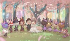 Cute! #AnimalCrossing #NewLeaf #acnlwedding