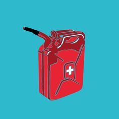 #illustration #color #feelings #emotion #fire #firstaid #gasoline #burning #theroofisonfire