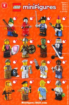 lego minifigures series 4. only 2 of these...