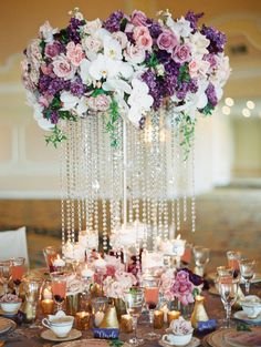 Magnificent centerpiece: http://www.stylemepretty.com/california-weddings/san-diego/2015/04/07/glamorous-versailles-wedding-inspiration/ | Photography: Carmen Santorelli - http://carmensantorellistudio.com/