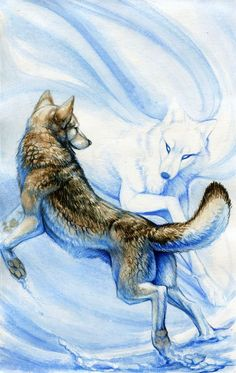 spirits--Eira. I've been thinking about wolves a lot lately in the kingdoms, because I feel like in Mallum the dark king has some connection with wolves, and the wolves that chase Nia in the wild are evil. But also I feel like there's a good wolf connection in Eira, where they are guardians and protectors or something.
