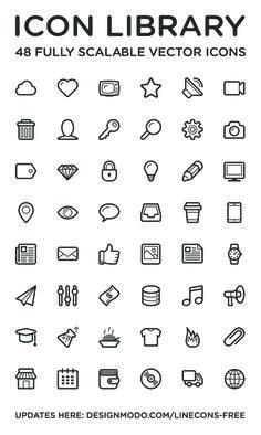 Linecons Icon Set #freebie #psd #iconset