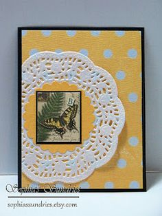 Sophia's Sundries (formerly Frugal Ideas from the Parsonage): Butterflies & Doilies Cards