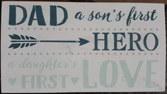 Dad by akawoodsigns on Etsy White Stain, Rustic Wood Signs, Daughter Love, Im Not Perfect, First Love, Dads, How To Remove, Hand Painted, Etsy Shop