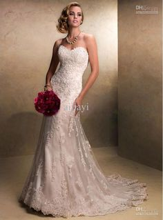 Wholesale Free shipping Fit and Flare Elegant Lace Wedding Dress Sweetheart Corset Destination Bridal Gown Emma, Free shipping, $172.0/Piece | DHgate Mobile