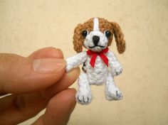 Beagle  Crochet Miniature Dog Stuffed Animals  Made To by SuAmi, $25.00