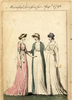 Morning dresses, Summer 1798 :: Fashion Plate Collection, 19th Century