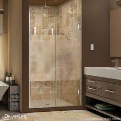 "DreamLine UniDoor Plus 72"" x 54.5"" Pivot Hinged Shower Door with Hardware Trim Finish:"
