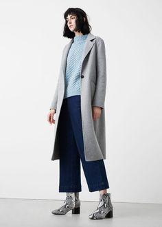 Dik yakalı kazak | MANGO 90s Boots, Funnel Neck, Texture Design, Fashion Outfits, Womens Fashion, Cable Knit, Mango, Sweaters For Women, Normcore
