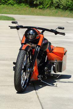 "BIKE: 2013 Harley Davidson Road King Custom Rolling On A Custom Set Of Performance Machine Heathen Wheels...26"" Front & 17"" Rear. HHI Cut & Rake"