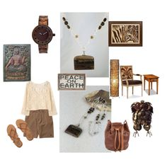 Earthiness with Dark Brown Picture Jasper Pendant Necklace by Rock2Gems.com (created @ www.polyvore.com/Rock2Gems) #brownandsilver #picturejasper #jaspernecklace #pendantnecklace #earthynecklace