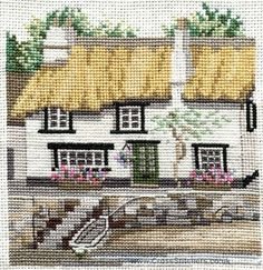 Cornish Cottage Cross Stitch Kit from Derwentwater Designs