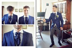 wedding groom dress blue tight by Luca Massaccesi http://www.brobrowedding.com/
