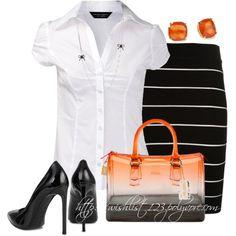 Black & White w/ a touch of Orange