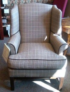 houndstooth plaid chair