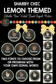 Are you looking for ways to minimize interruptions during your lessons? Do you have students with speech or communication disorders, or perhaps ELL/ESL students with a limited vocabulary? With this set of lemon themed hand signals, you can bring your classroom management back to its optimal level. Click here to discover a multi-cultural set of hand signal posters that will match your lemon themed classroom decorations and take back the control of your class!  #lemonclassroomtheme #lemonclassroom