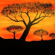 African Artwork #black #orange #yellow #history #culture #powerful #africanartwork #art #strong #nature #africaninspired African Artwork, African Culture, Album Covers, Monochrome, Safari, Gypsy, Survival, Sunset, Landscape