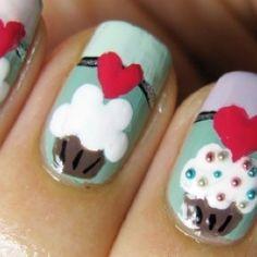 Nail Art Pastel Cupcake Nails