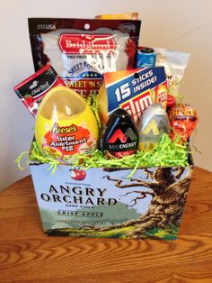 Boyfriend easter basket diy pinterest easter baskets easter boyfriends easter basket lots of booze chocolate and his favorite goodies negle Choice Image