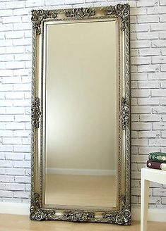 Large Bedroom Mirror, Hallway Mirror, Silver Wall Mirror, Full Length Mirror Entryway, Large Mirror Decor, Antique Floor Mirror, Ornate Mirror, Beveled Mirror, Large Floor Mirrors