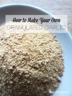 See how easy it is to make homemade granulated garlic or garlic powder in your own home! No more spoiled garlic going to waste!