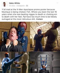 X-MEN poster and the Feminazi double standards.