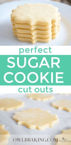 Perfect Sugar Cookie cut outs are soft, thick, sinfully buttery and taste amazing whether they are decorated or not! Make easy sugar cookie cut outs that keep their shape & edges. This is a no-chill recipe! cookie recipe Perfect Sugar Cookie Cut Outs Sugar Cookie Recipe Easy, Chewy Sugar Cookies, Galletas Cookies, Easy Cookie Recipes, Yummy Cookies, Cookies Et Biscuits, Baking Recipes, Cut Out Sugar Cookies, Decorated Sugar Cookie Recipe