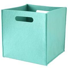 Once More With Felting storage bin -- Aqua