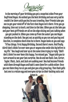 Hayes Grier Imagine.... although.... i would rather like it if it was a Taylor Caniff Imagine