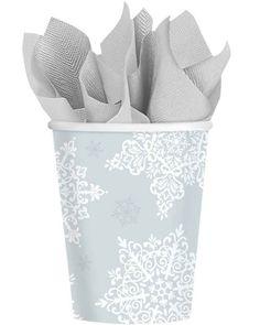 Christmas Shining Season Snowflake Party Cups #Christmas