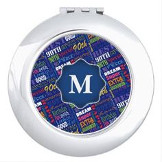90th Birthday Party Special Personalized Monogram Vanity Mirror - typography gifts unique custom diy