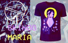 Koszulka T-shirt UNISEX z najwyższej jakości polskiej tkaniny. Naszyta aplikacja MARIA, łączy 3 barwy ekoskóry wysokiego gatunku.  http://skinog.pl/index.php/sklep-skinog/skinog-maria